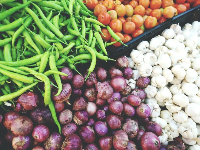 Freshness Choice For Sale Street Market Green Color Healthy Eating Market Food Vegetable Retail