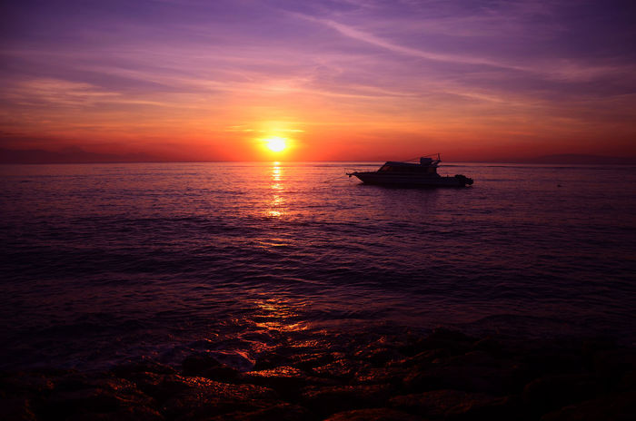 Serenity Sunset Nautical Vessel Sea Sun Water Tourism Reflection Cloud - Sky Horizon Over Water Dramatic Sky Transportation Silhouette Landscape Nature Outdoors Travel Vacations Travel Destinations Sky Red Baliphotography Bali Sunset_madness Sunsets