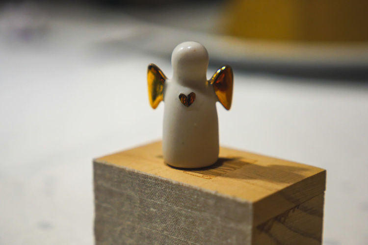 Close-up of toy on table