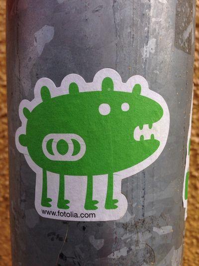 Fotolia Monster Green Sticker