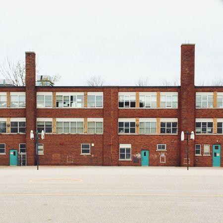 School's out Toronto Queen West Downtown Toronto School Architecture Toronto Landscape TorontoLife Toronto Skyline School Life  Brick Brick Wall Canada