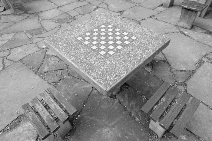 Black & White Black And White Chessboard Close Up Day Empty EyeEm Best Shots From My Point Of View Fuji FUJIFILM X-T10 Geometric Shapes No Edit No People Old Outdoors Park Pattern Play Stone Time Walking Around Wasiak