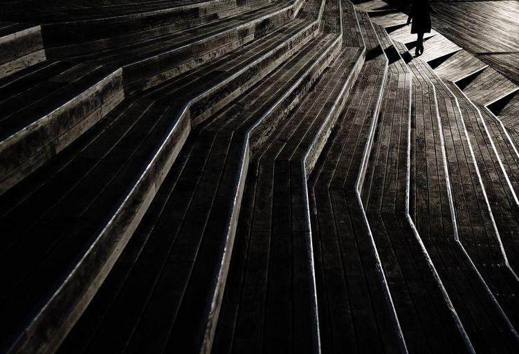 Stairs Deck Japan Interior Design Blackandwhite Photography Blackandwhite Woman Japanese  My Favorite Photo