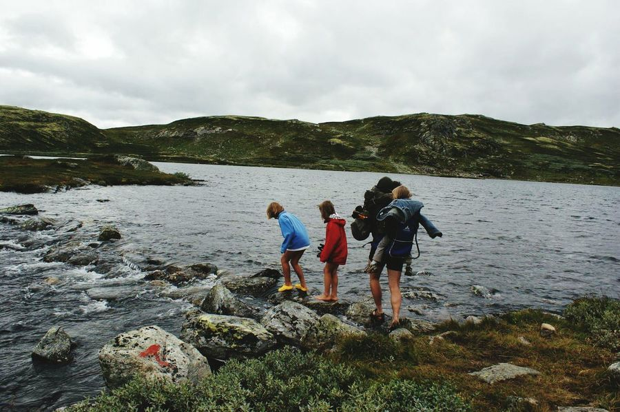 Togetherness Water Outdoors Family People Hiking Hikingadventures River Norway Norway Nature Kway