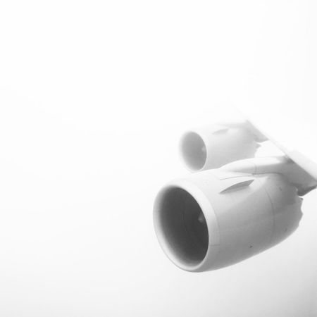 turbofan / whiteout Black And White Turbofan Fanjet Wings Airbus Fog Clouds Planes Travel