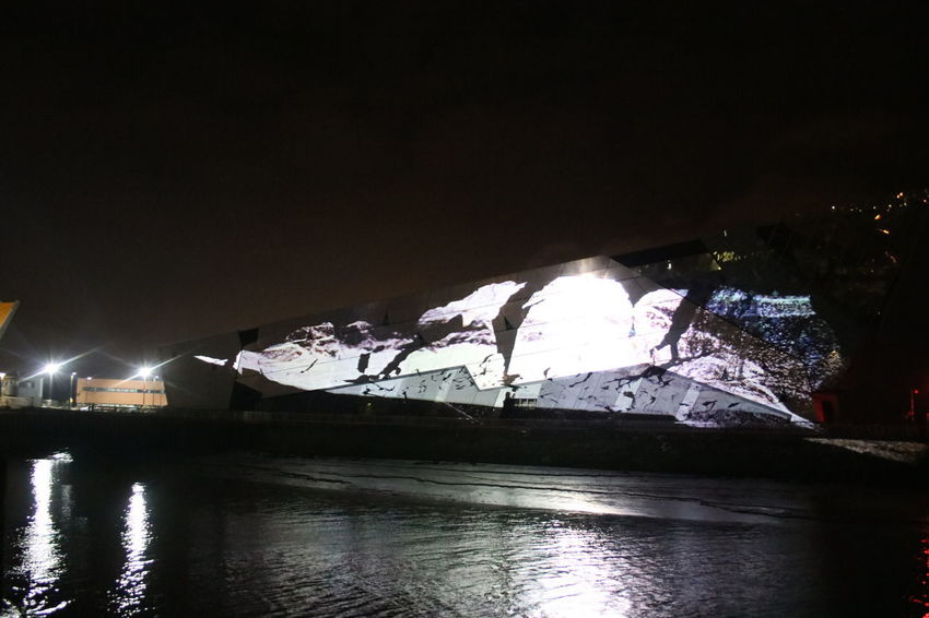 Floe Heinrich And Palmer Light Projection Against The Deep Art Installation Hull City Of