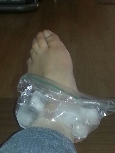 twisted my ankle Hurtslikehell Icedup