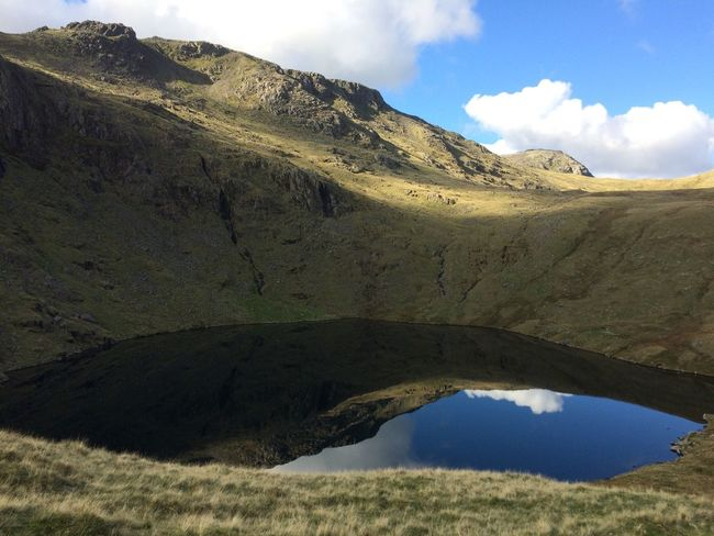The Lakes Angletarn Mountain Tarn Reflection Clouds Scenery Lakedistrict Beautiful Beautyinnature Sky Tranquil Scene Scenics Cloud Nature Tranquility Water Beauty In Nature Non-urban Scene Countryside Outdoors Day Cloud - Sky Rocky Mountain Range Majestic Remote Solitude No People