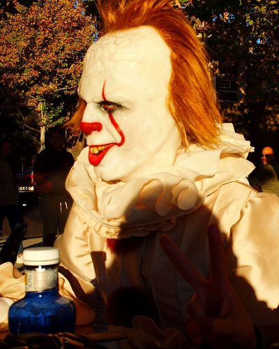 Halloween2017 It Clown Scary Face Warnerbrothers Madrid Spain
