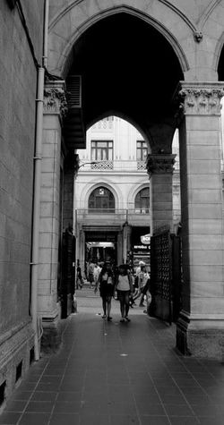 Istanbul Turkey Istiklalcaddesi Kilise Black And White