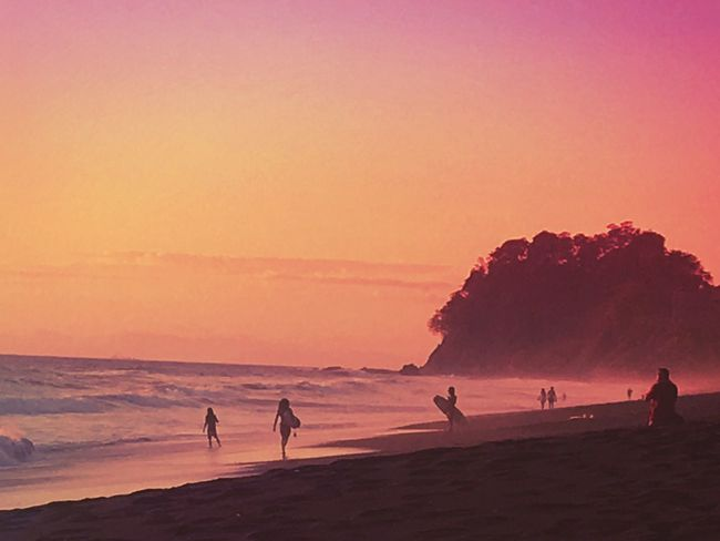 Surfers Paradise Surf Costa Rica Sunset Beach Sand Sea Beauty In Nature Nature Vacations Outdoors Water