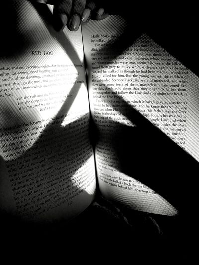 Mowgli, the wolf cub Books Book The Jungle Book Mowgli Shadow Indoors  No People Close-up Day Blackandwhite Black And White Shadows & Lights Lights Lines Light And Lines Crisscross