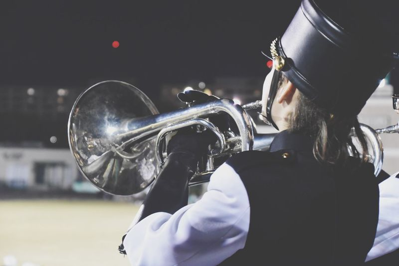 EyeEm Selects Music Arts Culture And Entertainment Musician One Person Men Real People Musical Instrument Playing Leisure Activity Uniform Skill  Lifestyles Outdoors One Man Only Day Wind Instrument Close-up Saxophone Jazz Music Only Men