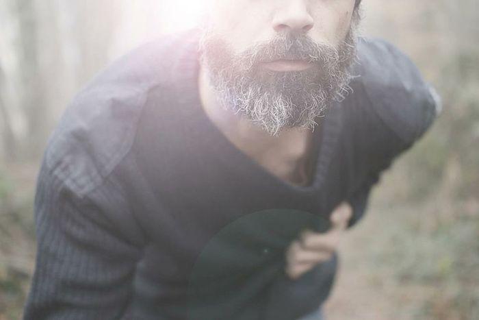 Self Portrait That's Me Forest Winter Beard Heart Loneliness Sadness Nature Man White Beard Blue Sweater Ache Wildlife Wildlife & Nature EyeEm Nature Lover EyeEm Best Shots - Nature The Portraitist - 2016 EyeEm Awards