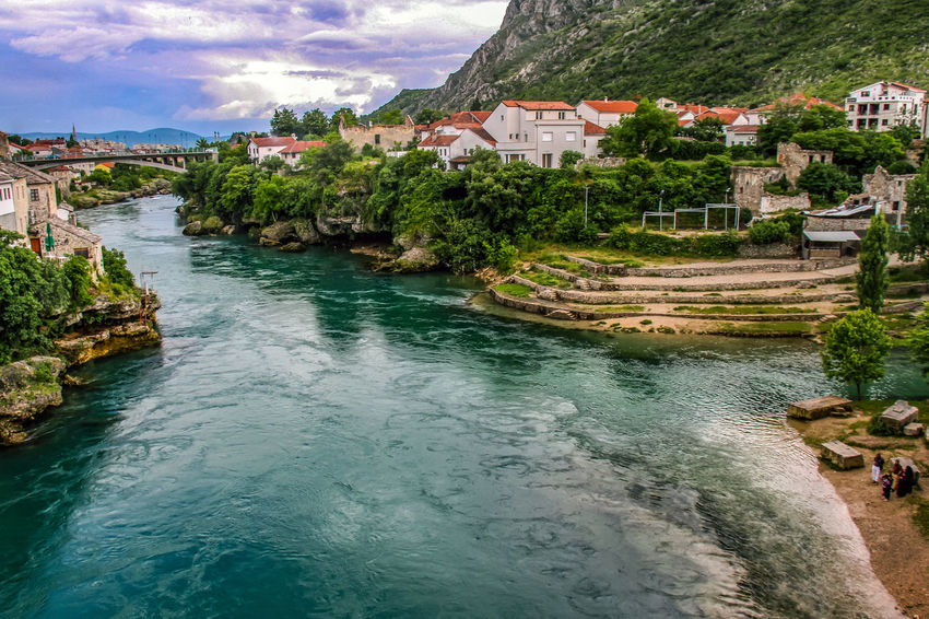 Mostar Mostar Bosnia Architecture Building Exterior Built Structure Cloud - Sky Day House Nature Neretva Neretva River No People Outdoors River Sky Tree Water