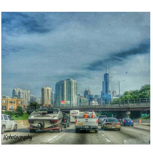 Showing love for my sweet Chicago.... Chicago Skyline KennedyExpressway I94 LGphotography photos snapseed photography likeifyoulovechicago driving