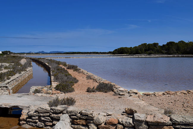 Salt flats of Formentera Tranquility Salt Flat Salt Flats Formentera Island Formentera Formentera Ibiza Beauty In Nature Day Nature No People Outdoors Rock - Object Scenics Sky Tree Water