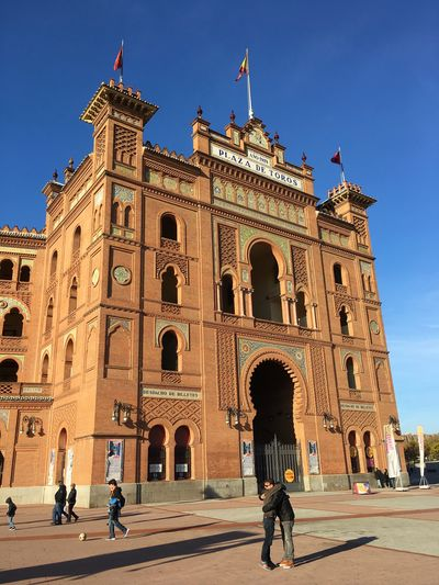 Architecture Travel Destinations Building Exterior Built Structure City Outdoors Real People Men Sky Day Mammal People Las Ventas Madrid España🇪🇸 Frainf