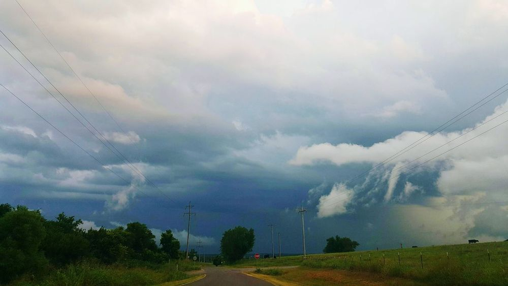 Stormy weather moving in. CloudsOklahoma OklahomaSkies Oklahoma Weather Storm Thunderstorm
