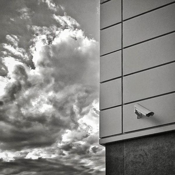 Blackandwhite Monochrome Building Glass clouds cloud Praha Prague czech watchman City Sky Clouds And Sky Watchman Prague Praha