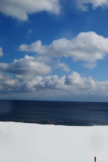 Sea Cloud - Sky Horizon Over Water Sky Tranquility Tranquil Scene Scenics Blue Canonphotography Nature Beauty In Nature Landscape Hokkaido 北海道 Traveling Blue Sky Coldtemperature Snap Snapshot Snapshots Of Life EyeEmNewHere Lost In The Landscape Connected By Travel 세계 No People An Eye For Travel