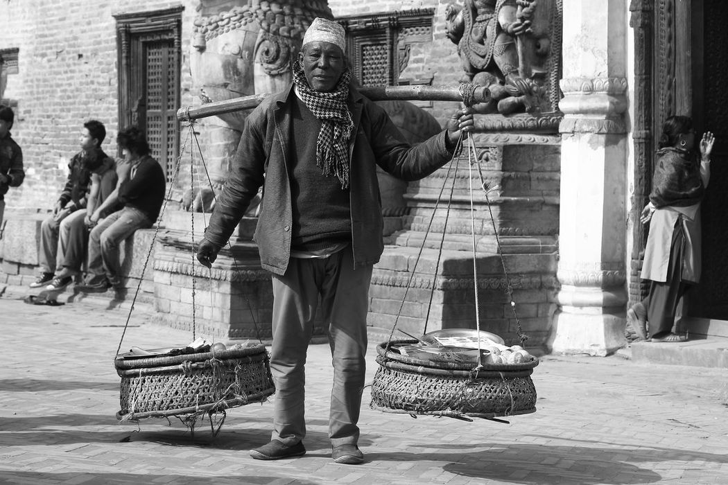 Balancing Balancing Act Balancing Elements Balancing Out The Lows Casual Clothing City Life Contemplative Daily Business  Getting In Touch Getting Inspired Hard Work Hard Working Lifestyles Nepali  Nepali People Portrait Of A Man  The Portraitist - 2016 EyeEm Awards The Week On Eyem The Street Photographer - 2016 EyeEm Awards Feel The Journey Natural Light Portrait The OO Mission On The Way Hidden Gems  An Eye For Travel