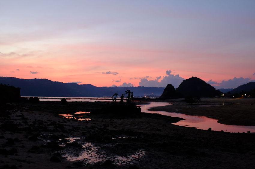 Fujifilm Travelling Beach Beauty In Nature Fujifilm Idyllic Lifestyles Scenics - Nature Sculpture Sky Sunset Tranquility Wonderful Indonesia EyeEmNewHere