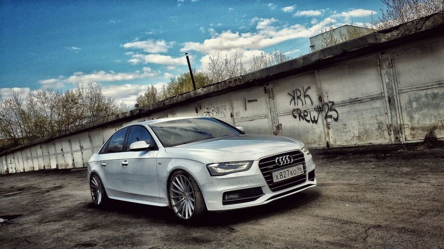 Ekaterinburg Automobile Audi Audi A4 Auto Tuning Styling Dark Side Glass Hello World Toner