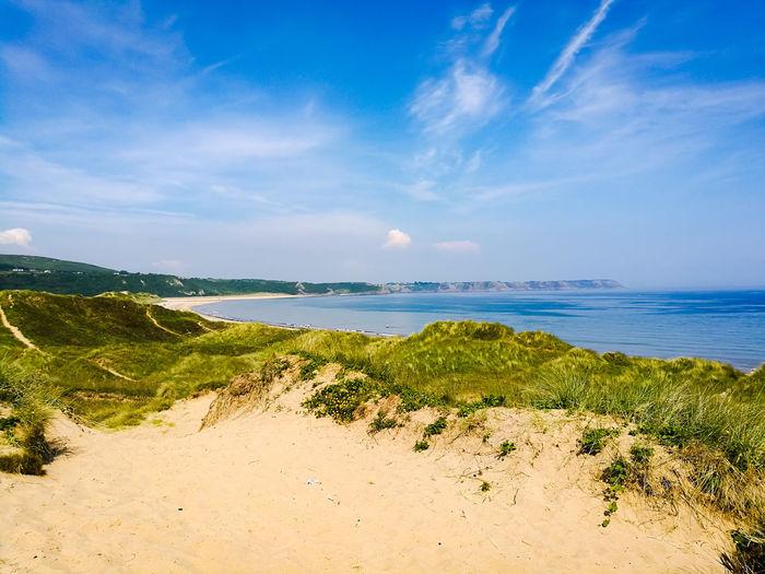 Oxwich Bay. UnderSea Water Tree Sea Beach Horizon Blue Sand Summer Beauty Seascape Bay Of Water Headland Coast Ocean Coastline Surf Tide Coastal Feature Turquoise Colored