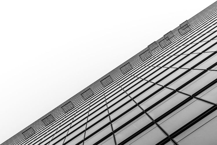 Black And White Futuristic Financial District  Business Business Finance And Industry Office Building Krull&Krull Architecture Lines And Shapes Krull&Krull Black And White Diagonal Diagonal Lines Built Structure Architecture Building Exterior Low Angle View Sky Building Clear Sky Office Building Exterior City Modern No People Office Skyscraper Tall - High Copy Space Nature Day Pattern Outdoors Tower Directly Below