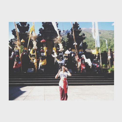Balinese Praying Pura Pasar Agung Temple