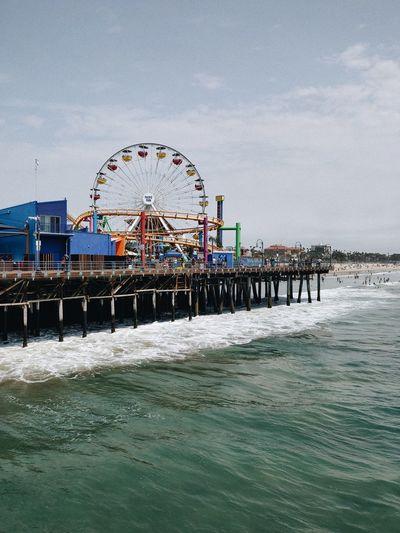 Sea Beach Ferris Wheel Water Sand Amusement Park Ride Arts Culture And Entertainment Amusement Park Rollercoaster Summer Pier Horizon Over Water Ocean Shore