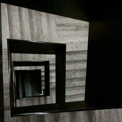 Square Architecture Black & White Museum Lines Simetrical