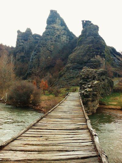Wooden Bridge on Pcinja River. Nature Taking Photos Hello World Rocks Serbia Srbija