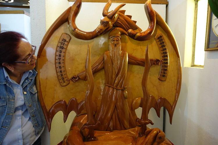 Artsy Clock Clock Dragon Fancy Woodwork Wood - Material Wooden Clock Woodwordking