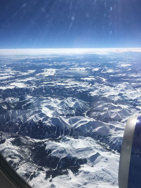 Airplane Aerial View Mountain Mountains And Snow Snow Cold Temperature Beauty In Nature Weather Travel On My Way Home Sky Transportation Flying Over Colorado Beautiful View United States