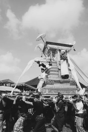 ngaben ceremony spirit Ngaben Ceremony Bali Life Balinese Culture Balinese Balinese People Traditional Clothing Carousel Amusement Park Ride Arts Culture And Entertainment Amusement Park Sky Cloud - Sky A New Beginning EyeEmNewHere