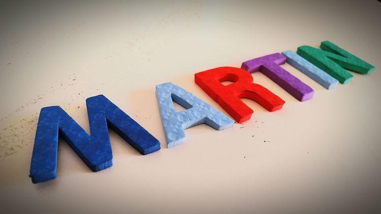 Martin Name Soft Colors  Nombre Nombres