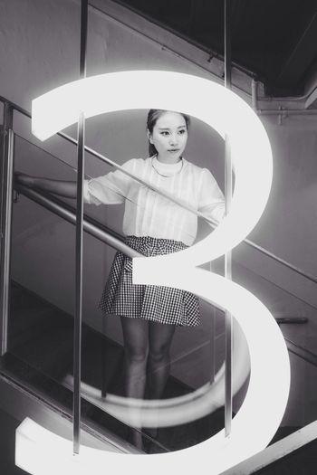 Portrait Model Black & White Fuji X-M1