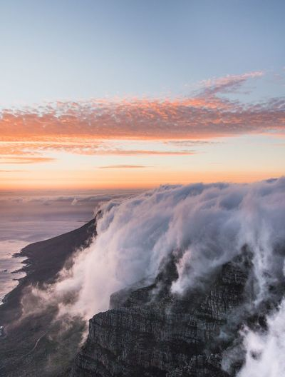 Out there EyeEm Gallery EyeEm Best Shots Landscape Beauty In Nature Cloud - Sky Sunset Summer South Africa Africa Cape Town Table Mountain Mountain Sunset Beauty In Nature Motion Wave Sea Nature Scenics Orange Color Sky Power In Nature Water Outdoors Beach Day Horizon Over Water EyeEm Ready
