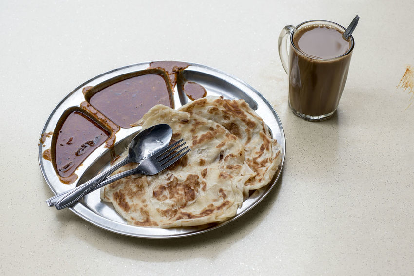Beverage Breakfast Coffee - Drink Coffee Cup Drink Food Food And Drink High Angle View Hot Drink Indulgence Kopi Non-alcoholic Beverage Paratha Plate Prata Ready-to-eat Refreshment Serving Size Table Temptation