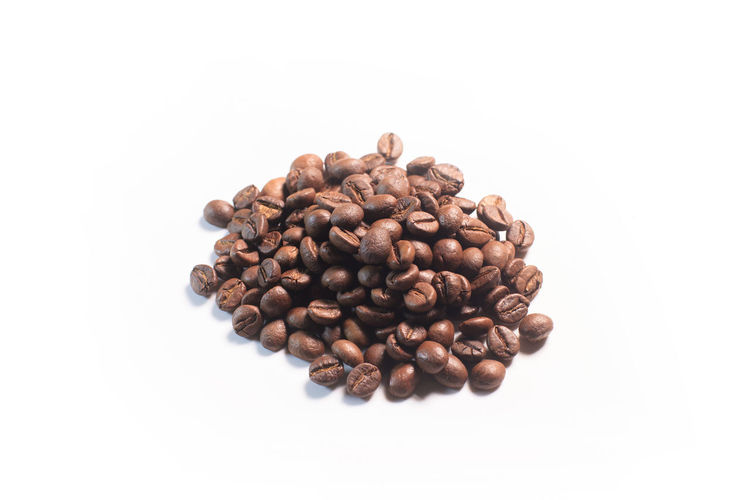 heap of coffee beans isolated on white Coffee Beans Brown Bean Caffeine Drink Roasted Food Cafe Espresso Aroma Isolated Black White Macro Seed Heap Dark Beverage Morning Roast Coffee Beans Closeup Breakfast Arabic Background Decaf Fresh Ingredient Many Mocha Natural Round Texture Turkish Harmony Roaster Flavor Pile Nobody Freshness Grain Gourmet Agriculture Stimulant Aromatic Studio Quality Harvest Energy