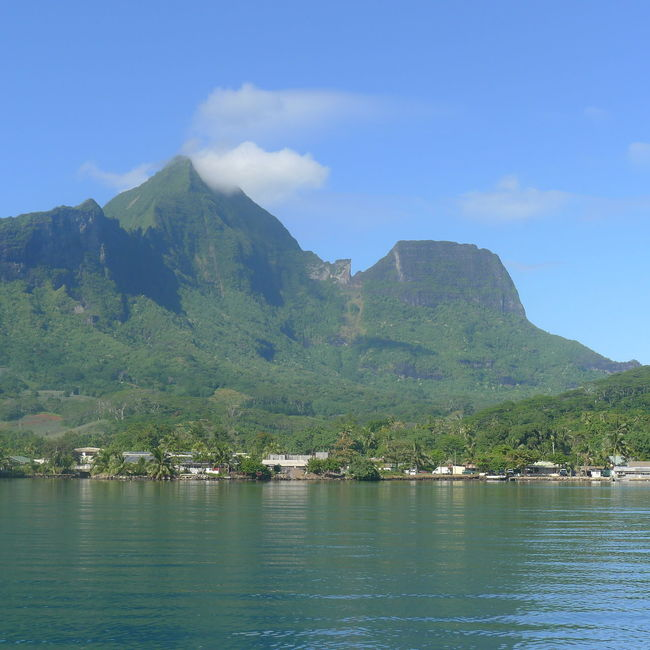 Beauty In Nature Day Idyllic Moorea Mountain Mountain Range Nature No People Outdoors Scenics Sea Sky Tranquil Scene Tranquility Tree Water Waterfront