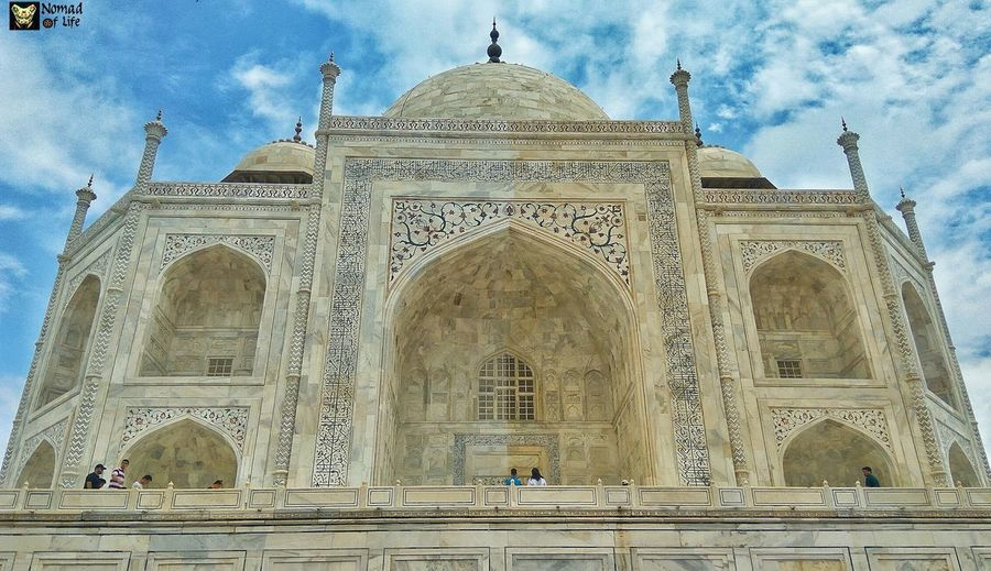 The Mesmerising Taj 🇮🇳 Architecture Travel Destinations Low Angle View History Built Structure Religion Day Outdoors Sky Tourism Façade Spirituality Dome Place Of Worship Building Exterior No People Ancient Civilization Eyeemphotography Photography Taj Mahal, Agra Cloud - Sky Wanderlust Traveldiary2017 Travelgrams Architecture