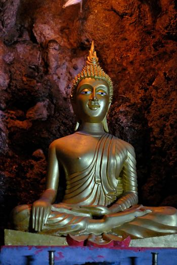 Statue of buddha in building