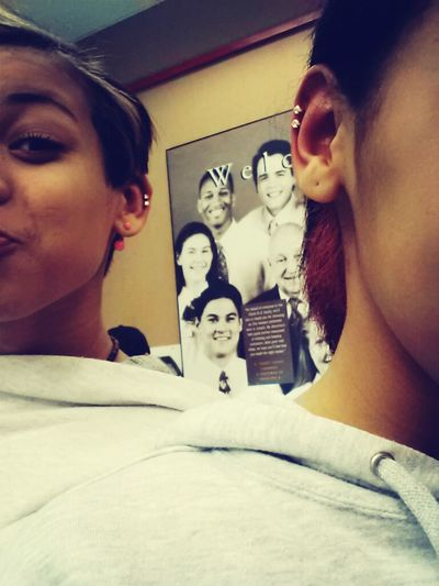 matching ear piercing with the bestfriend 
