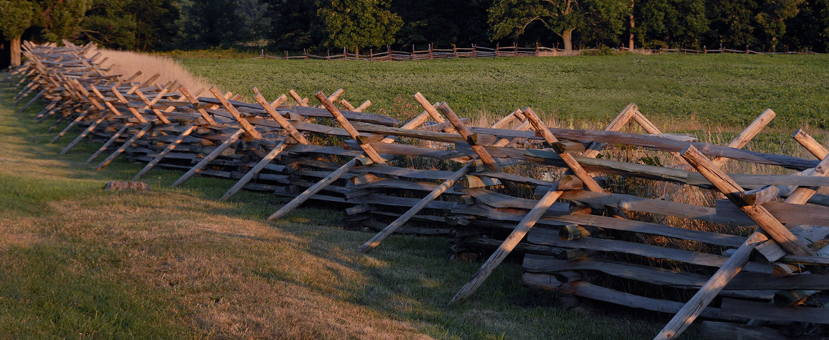 Rustic fence Field Rural Rural Scenery Fence Field Grass Landscape No People Outdoors Rural Scene Split Rail Fence Wood - Material