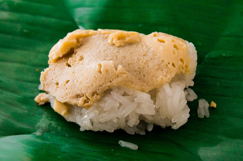 Sticky Rice cake Thaifood Thaifood Close-up Day Food Food And Drink Freshness Green Color Healthy Eating Indoors  No People Ready-to-eat Sticky Rice Sticky Rice Cake Sticky Rice Cake Thaifood Thaifoodstyle