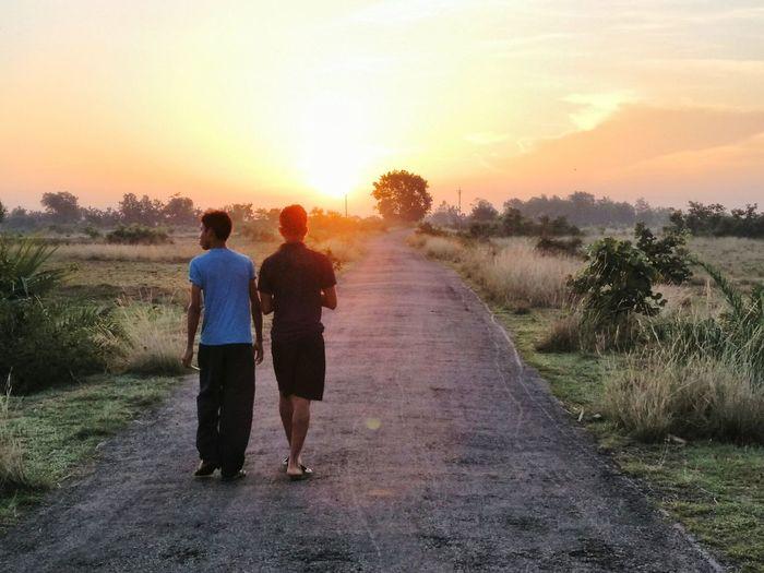 Indian_village_road Sunrise Good Morning Sunshine