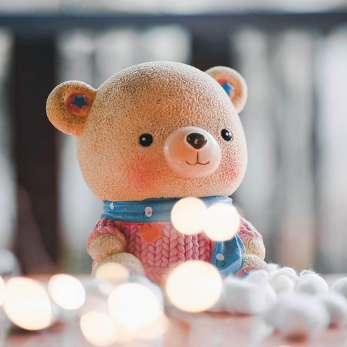 Close-up of stuffed toy on table